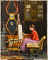 Halil Paşa - Ressam Kız ve Atölyesi , Girl Painter and Her Studio - Google Art Project.jpg