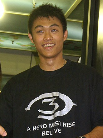 """Lee Hsueh-lin - Lee at the """"Halo 3 Pre-launch Carnival"""" in Taiwan, 2007"""