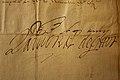 Handtekening Lamoraal van Egmont, brief aan de heer van Ohain, 1557.jpg