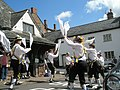 Hankies aloft by the Yarn Market, Dunster - geograph.org.uk - 925206.jpg