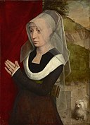 Hans Memling - Portrait of a woman at prayer (c.1480).jpg
