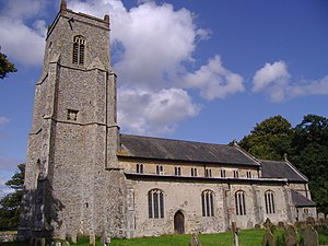 Hanworth, Norfolk - Image: Hanworth Saint Bartholomews Parish church 6th september 2008 (2)