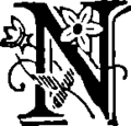 Haraucourt - La Légende des sexes, poëmes hystériques, 1882 - Lettrine-N.png