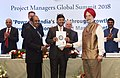"""Hardeep Singh Puri presenting the awards, at the inauguration of the Project Managers Global Summit, 2018 on """"Powering India's Breakthrough Growth - New Dimensions in Project Management"""", in New Delhi (1).JPG"""