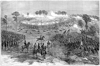 Battle of Chaffin's Farm - Union assault on Fort Harrison, September 29 (after a sketch by William Waud)