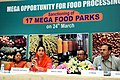 Harsimrat Kaur Badal addressing the Press Conference on sanctioning of 17 Mega Food Parks, in New Delhi. The Minister of State for Food Processing Industries, Sadhvi Niranjan Jyoti and the Secretary.jpg