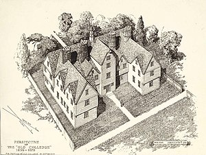 History of Harvard University - The original college building (1638–1670)