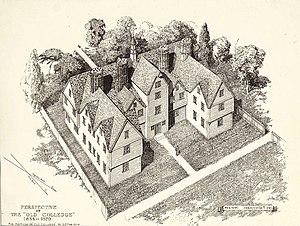 History of Harvard University - The original college building (1638–1670)