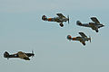 Hawker fighter formation - Flying Legends 2013 (9301667813).jpg