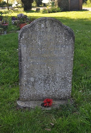 Catherine Yurievskaya - Catherine's grave in the churchyard of St Peter's, Hayling Island