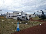 Heliflite (VH-JSJ) Robinson R22 Beta II on display at the 2015 Australian International Airshow.jpg