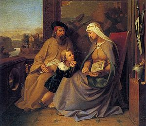 Josef Vojtěch Hellich - Saint Ludmila Teaching Saint Wenceslaus in Tetín