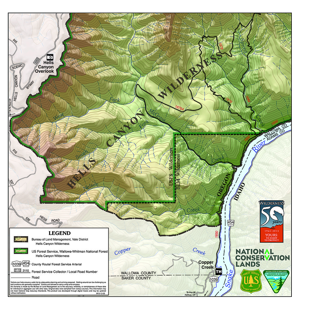 FileHells Canyon Wilderness Map Jpg Wikimedia Commons - Us forest service ecoregion map