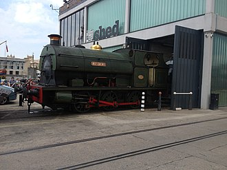 Bristol Harbour Railway - Image: Henbury steam loco 2013