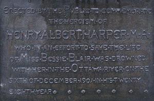 Ernest Wise Keyser - Image: Henry Harper plaque