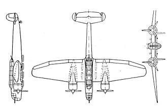 Henschel Hs 124 - Henschel Hs 124 3-view drawing from L'Aerophile September 1939