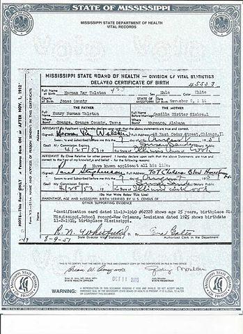 File:Herman Raymond Walston birth certificate.jpg - Wikimedia Commons
