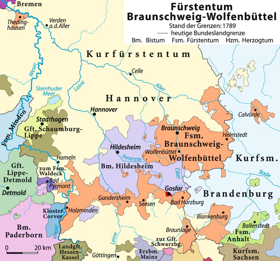 Herzogtum Braunschweig 1789