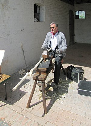 Drawknife - Draw shaves are often used with shaving horses.