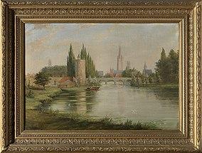 Het Minnewater met zicht op Brugge