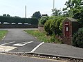 Highcliffe, shared foot-cycle path and postbox - geograph.org.uk - 824145.jpg