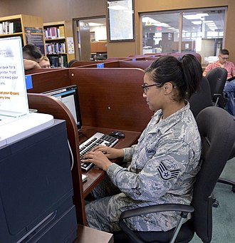 6th Intelligence Squadron - Image: Higher learning important for service members 150702 F BX159 004
