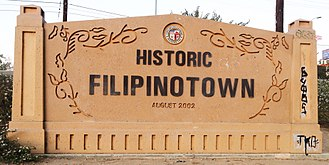 Historic Filipinotown, Los Angeles - Historic Filipinotown western gateway that is located off the 101 freeway on the corner of Temple Street and Silverlake Boulevard.