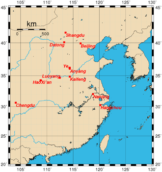 Historical capitals of China - Historical capitals of China before the 20th century