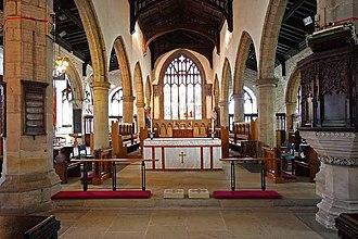 Kendal Parish Church - Chancel of the church.