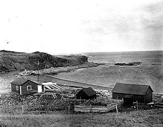 Sanak Island - Home of a cod fisherman on Sanak Island, photo by John Nathan Cobb