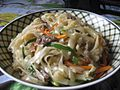 Homemade Japchae with mixed capsicum, mushroom, meat, carrot with rice noodles 03.jpg