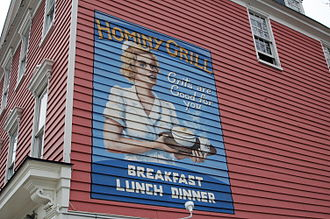 Lowcountry cuisine - Side of the Hominy Grill in Charleston, South Carolina