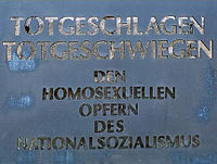 Homosexual Memorial at Sachsenhausen.jpg
