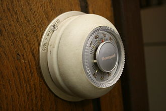 """Thermostat - Honeywell's iconic """"The Round"""" model T87 thermostat, one of which is in the Smithsonian."""