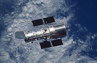 Astronautics - Hubble Space Telescope over Earth (during the STS-109 mission)