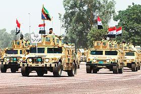 همرات الجيش العراقي باستعراض في بغداد