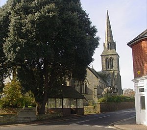 Hurstpierpoint - Church at the main crossroads in Hurstpierpoint.