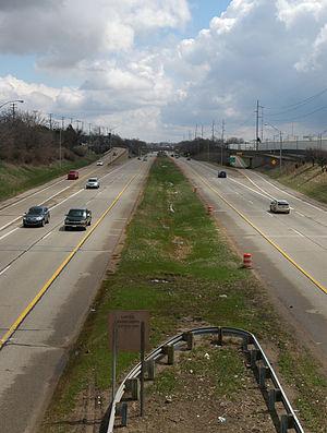 Interstate 496 - Image: I 496 at MLK Boulevard