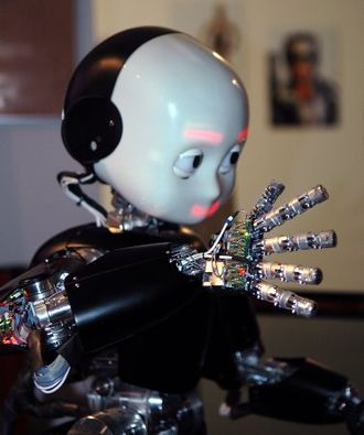 Humanoid robot - iCub robot at the Genoa Science Festival, Italy, in 2009