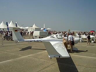 Diamond HK36 Super Dimona - Super Dimona, showing its winglets