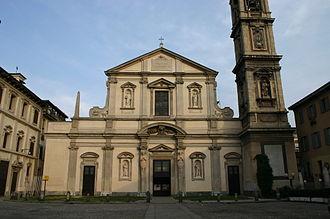 Basilica di Santo Stefano Maggiore - Façade of the Basilica.
