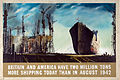 INF3-165 Britain and America have two million tons more shipping... Artist Rowland Hilder.jpg