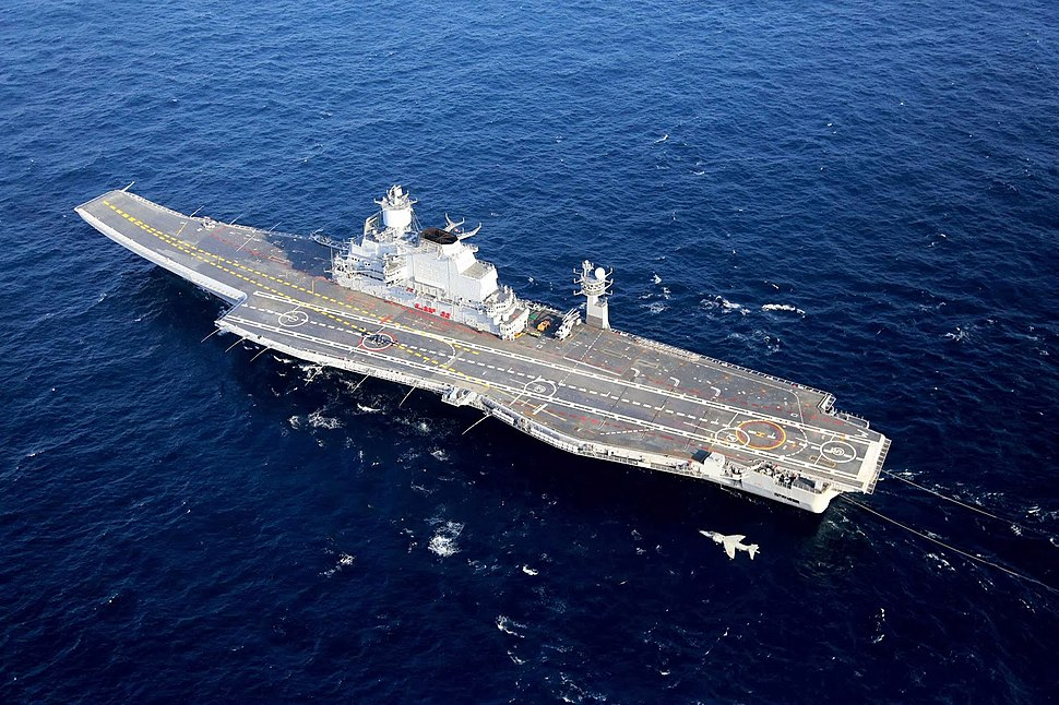 INS Vikramaditya (R33) with a Sea Harrier