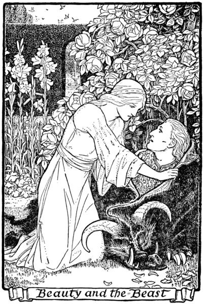 La Belle et la Bête, une leçon d'humilité dans La Bibliothèque 402px-Illustration_at_page_39_in_Europa%27s_Fairy_Book