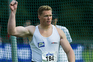 2000 World Junior Championships in Athletics - Rutger Smith of the Netherlands won the shot put gold and discus bronze.