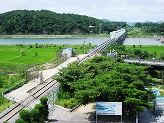 Paju - Rail line crossing the Imjin River
