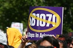 Protestas contra la ley SB1070 en Washington D.C.