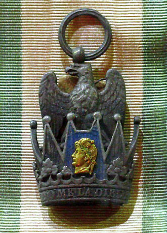 Order of the Iron Crown - Badge and ribbon of the Order