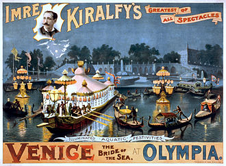 Olympia, London - Imre Kiralfy's Venice the bride of the sea, performance poster