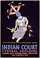 Indian court, Federal Building, Golden Gate International Exposition, San Francisco, 1939 LCCN98518787.jpg